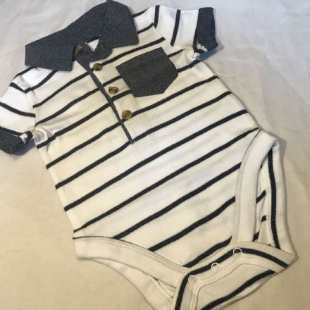 0-3 Month Polo Romper
